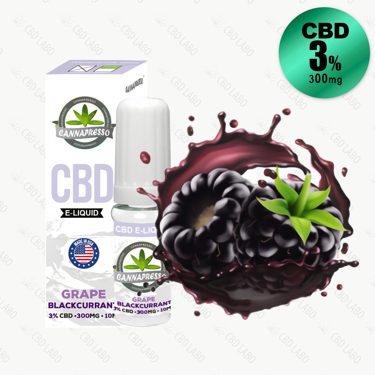 【送料無料】CANNAPRESSO CBDリキッド グレープ・ブラックカラント 10ml CBD含有量300mg (3%)