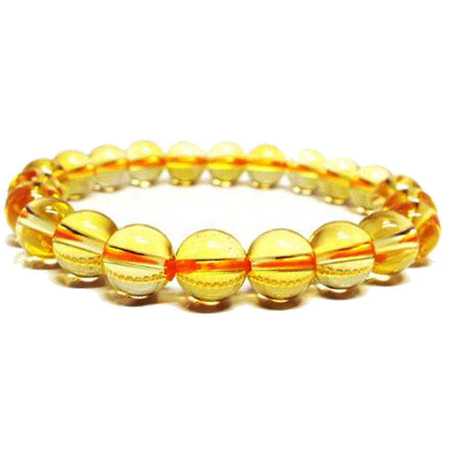 【繁盛と豊かな富】天然石 シトリン黄水晶 ブレスレット(6mm、8mm、10mm)