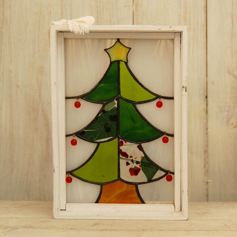 YY014 白い箱のクリスマスツリー