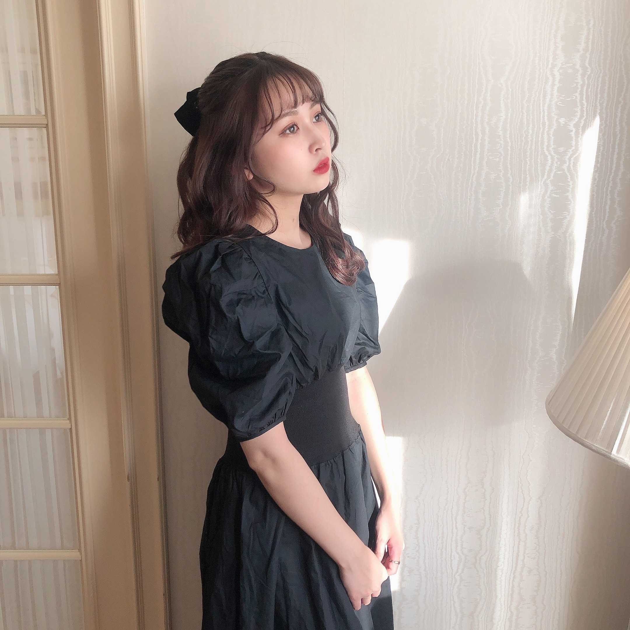4/13【RESTOCK】macaron onepiece (BLACK)