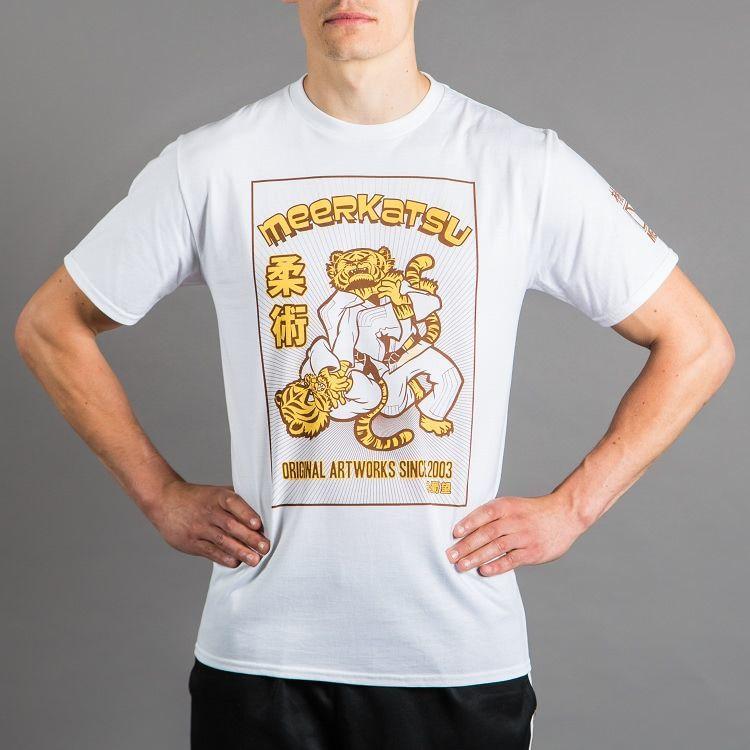 MEERKATSU ファイティング・タイガー Tee|格闘技、柔術Tシャツ