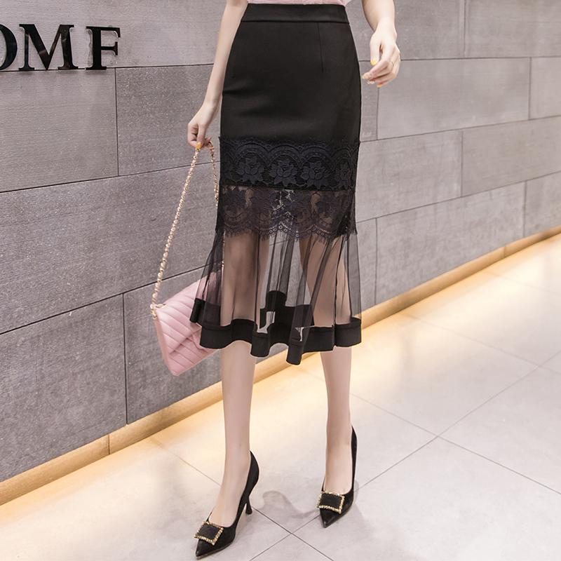 【bottoms】気質アップレースファッションスカート22217774