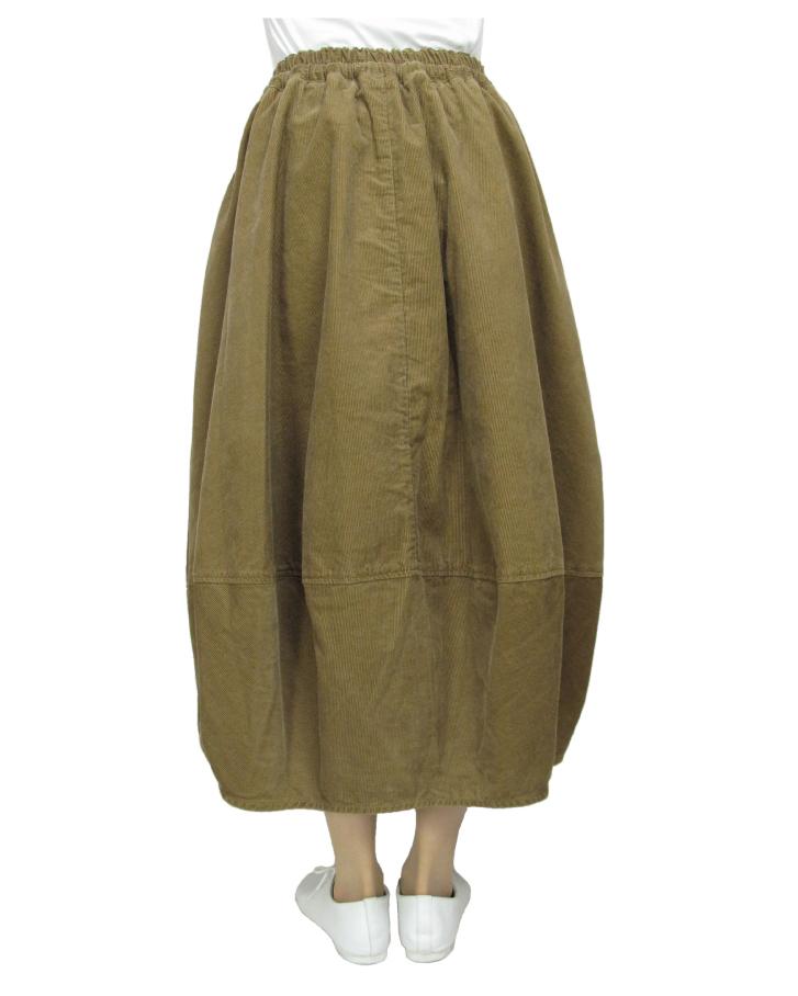cord cocoon skirt Lot:35310 - 画像2