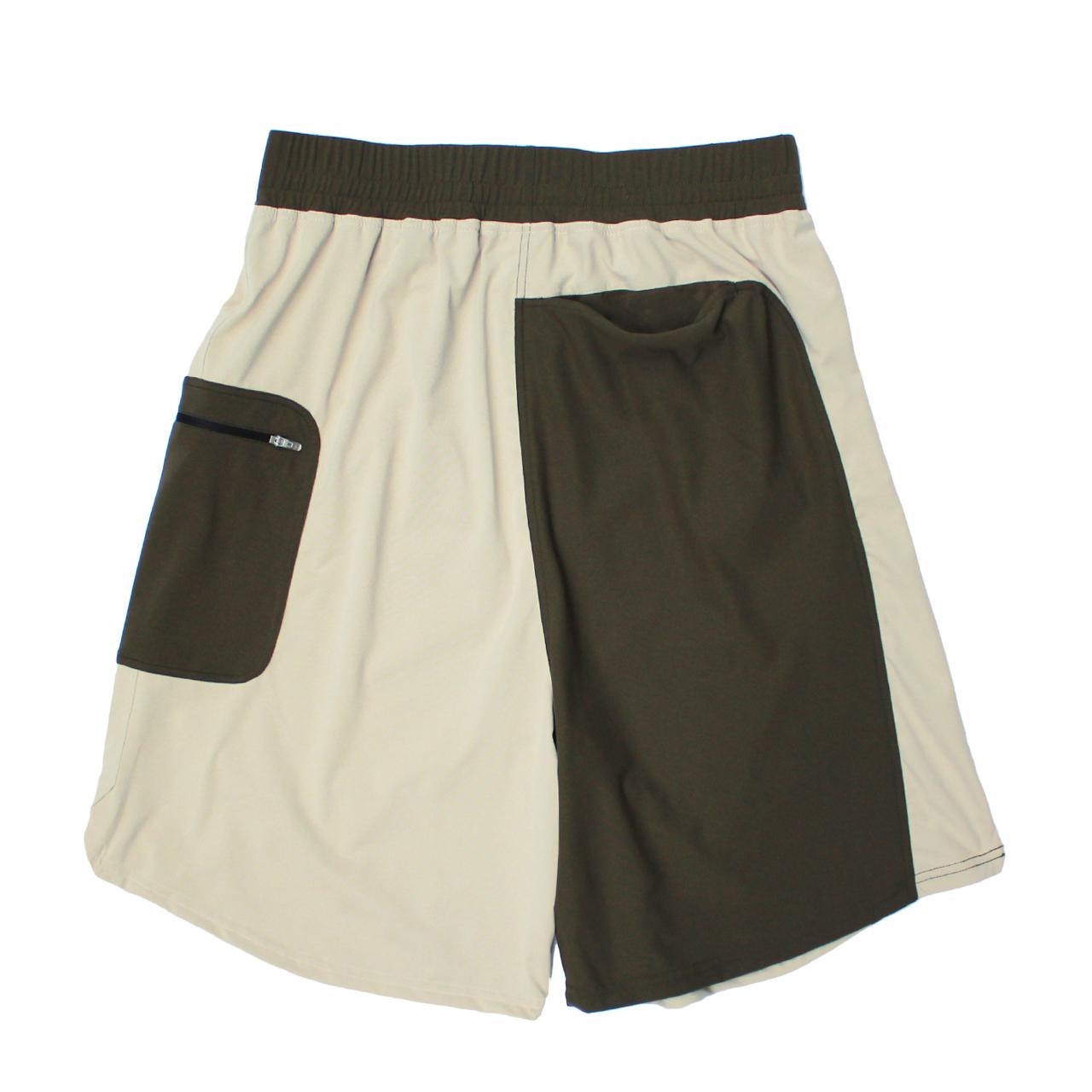 LOGO street shorts <Khaki×Beige>  - 画像2