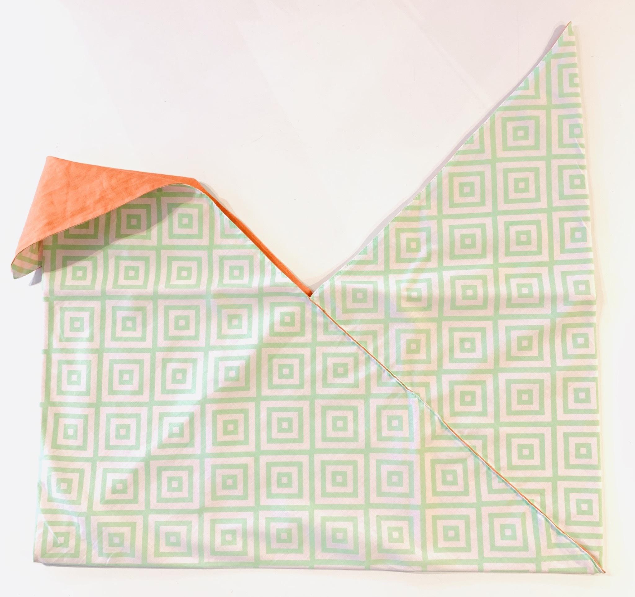【セール】インバッグ  スクエア グリーン×ピンク【Sサイズバッグ対応】