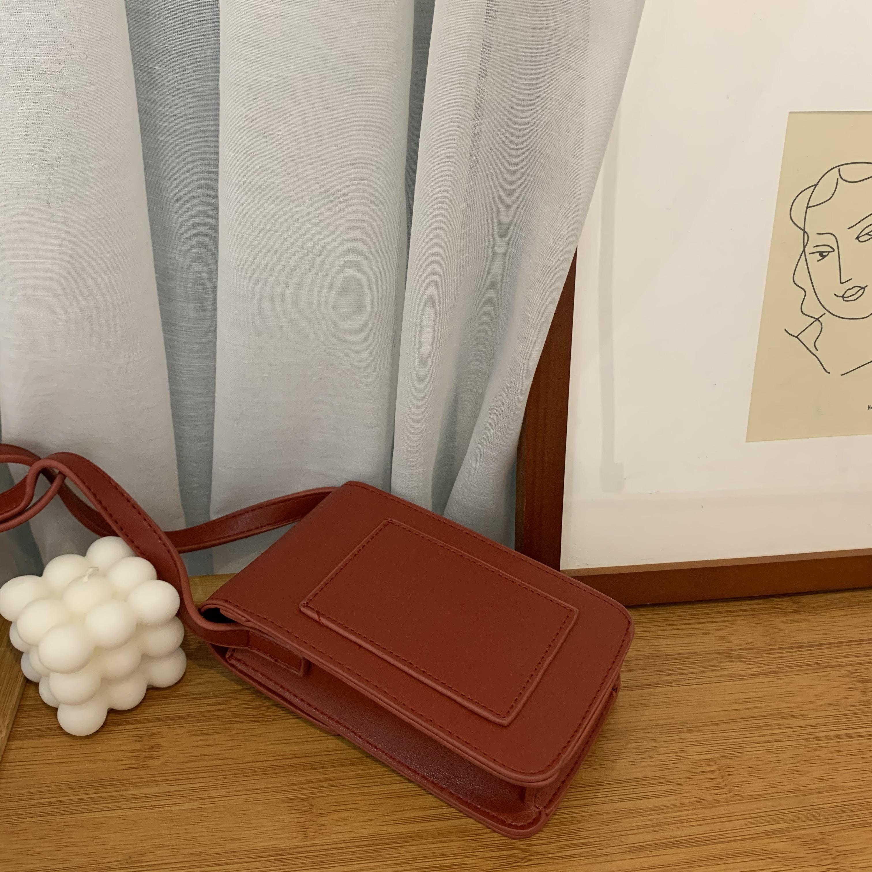 バーガンディーメッセンジャーバッグ 【Burgundy messenger bag】
