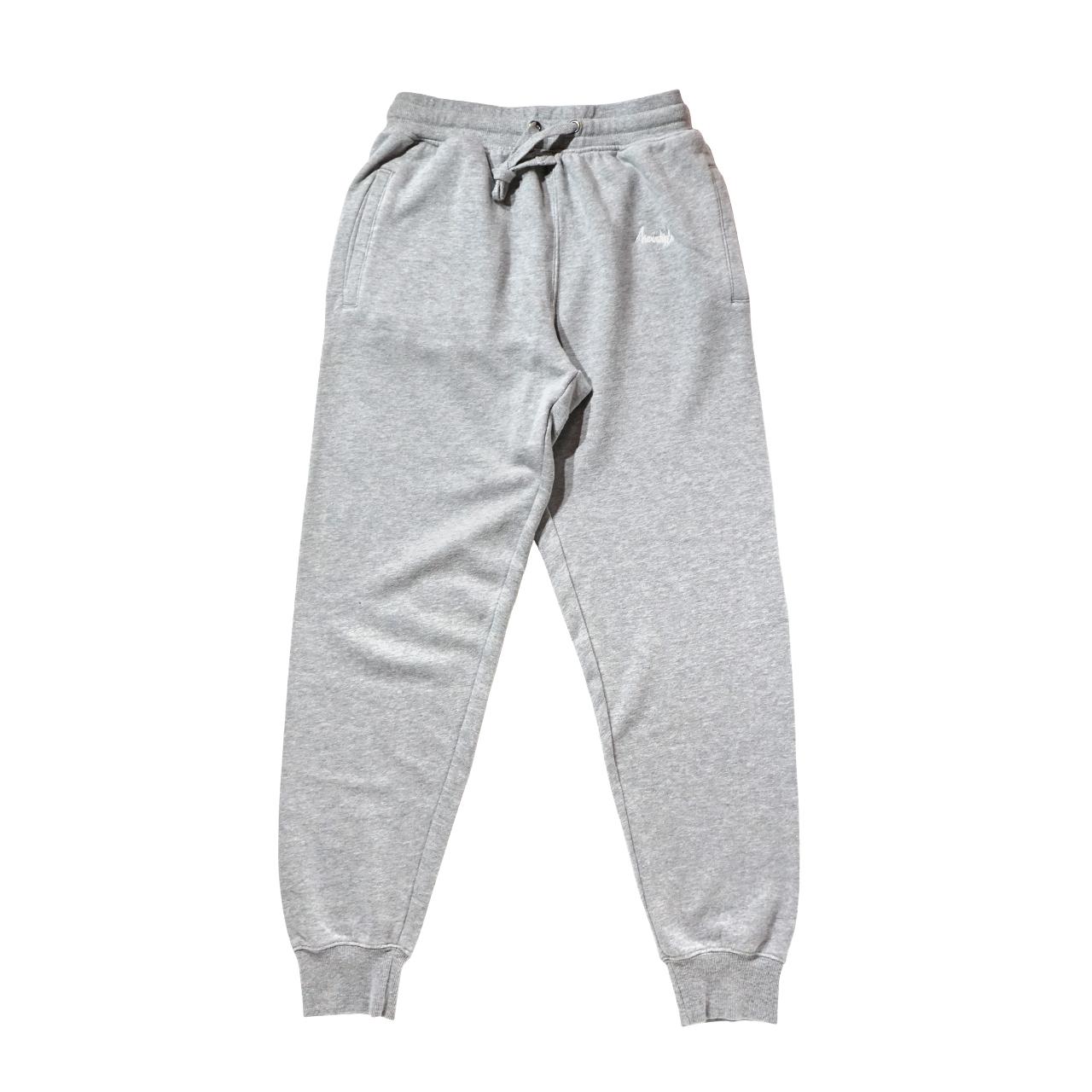 BASIC LOGO 019 light sweat pants <Gray×White> - 画像1