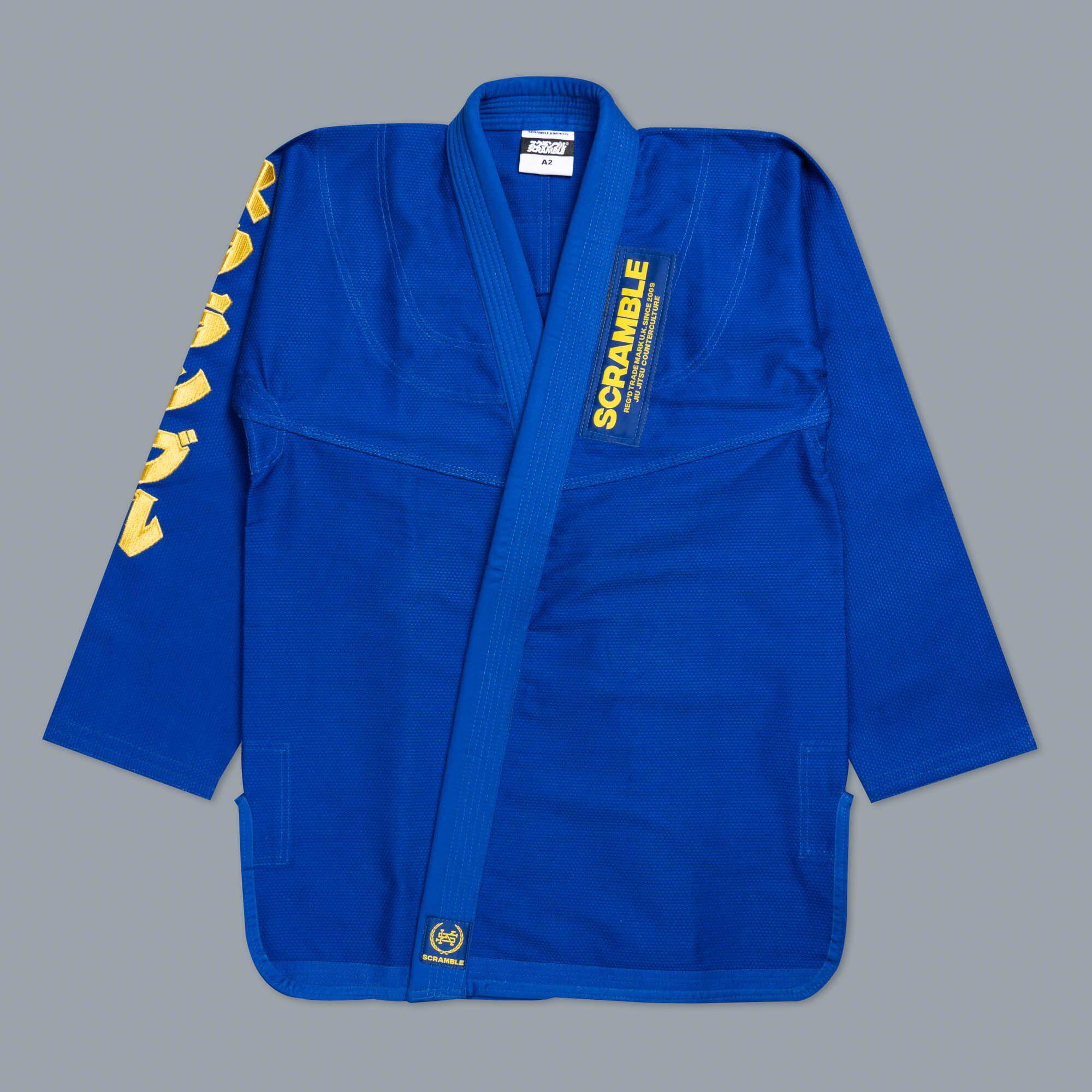 予約注文受付中!SCRAMBLE MAKOTO GI ブルー|ブラジリアン柔術着(柔術衣)