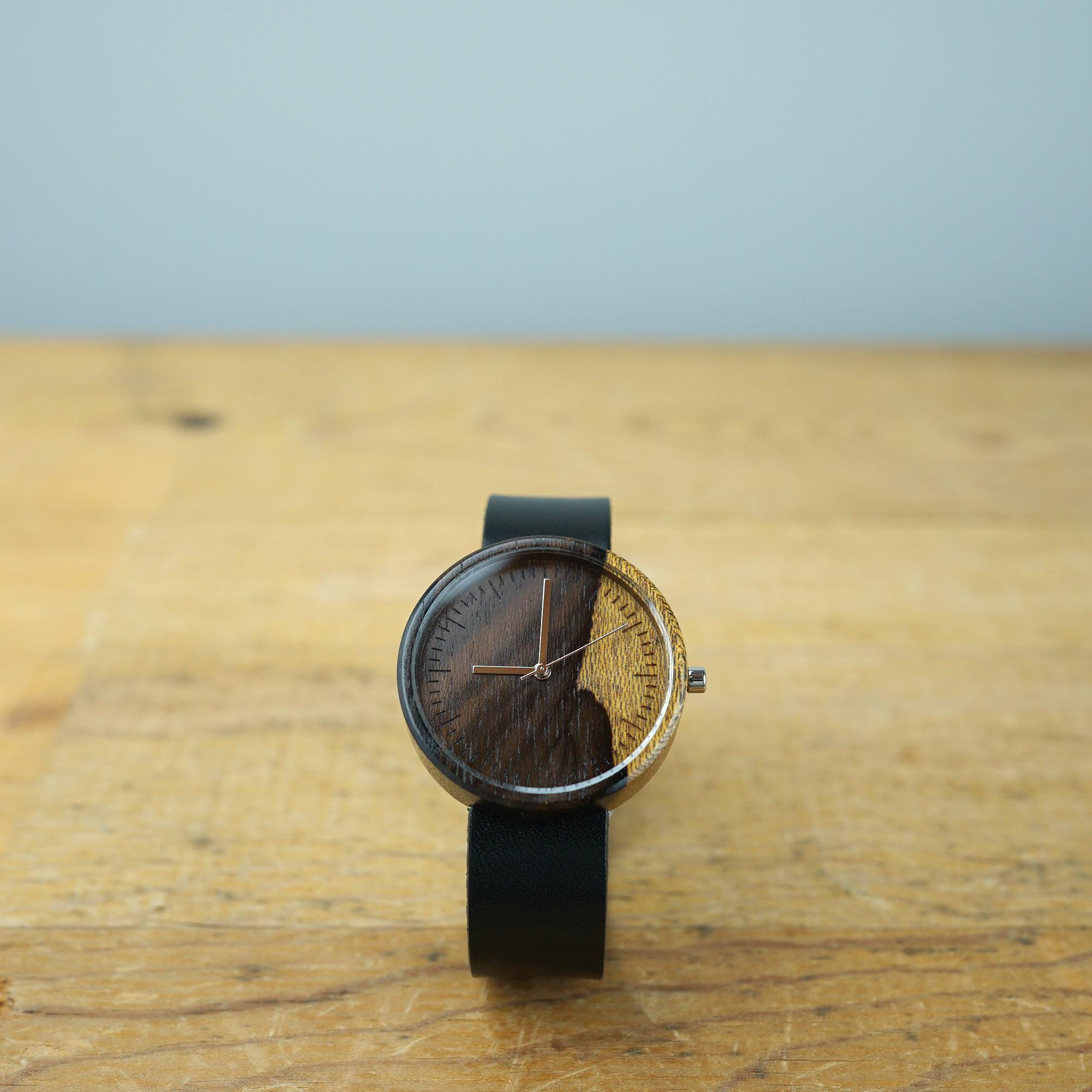 シャムガキ Ebony wood - Organic leather - L