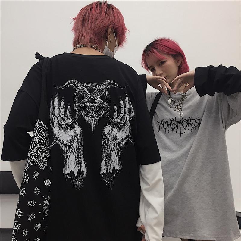 【tops】 プリント超人気配色プルオーバーTシャツ23178437