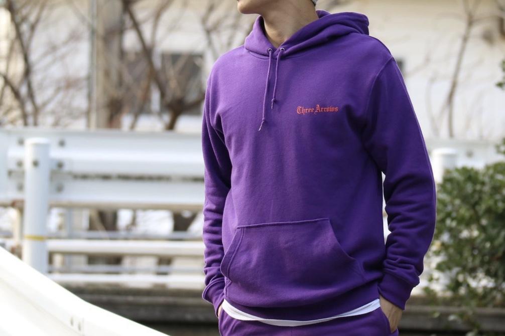 【1/15 21:00 販売開始】THREEARROWS Logo Foodie(purple)