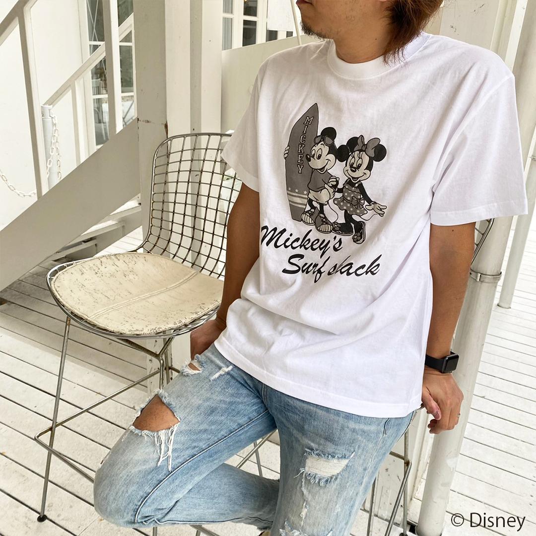 【予約:4月下旬発送】<Mickey's Surf shack> Tee - White