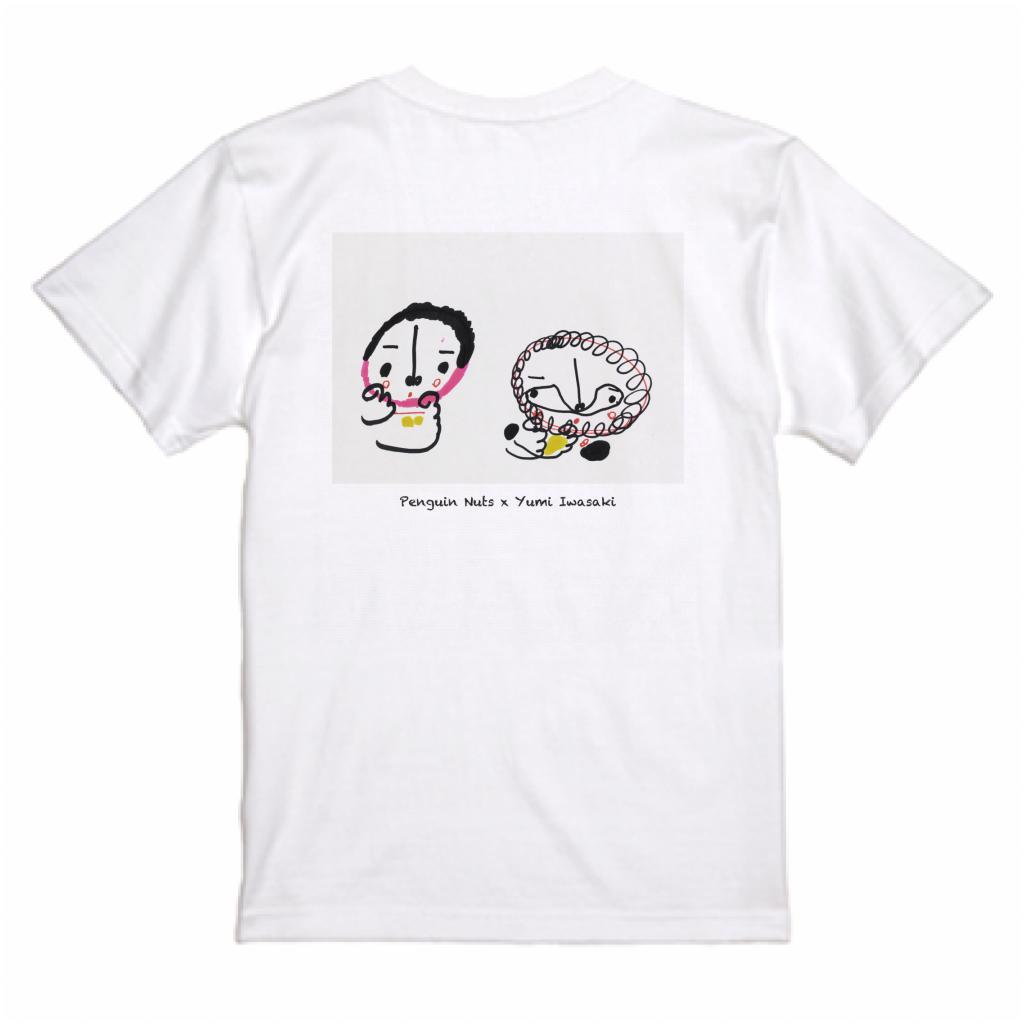 【Penguin Nuts × Yumi Iwasaki】Tシャツ ホワイト