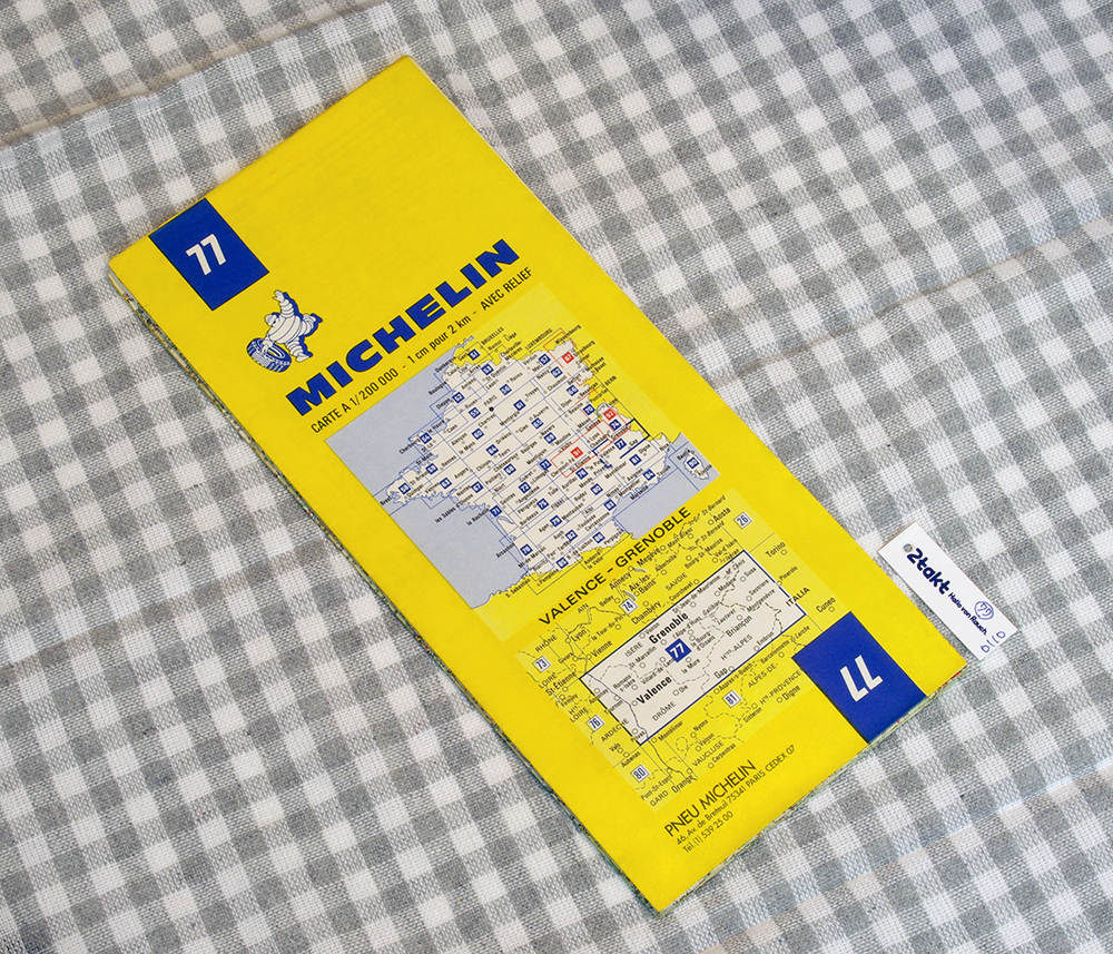 【Vintage/Used品】1985 MICHELIN MAP No.77 フランス南東部 BREST-QUIMPER /0110