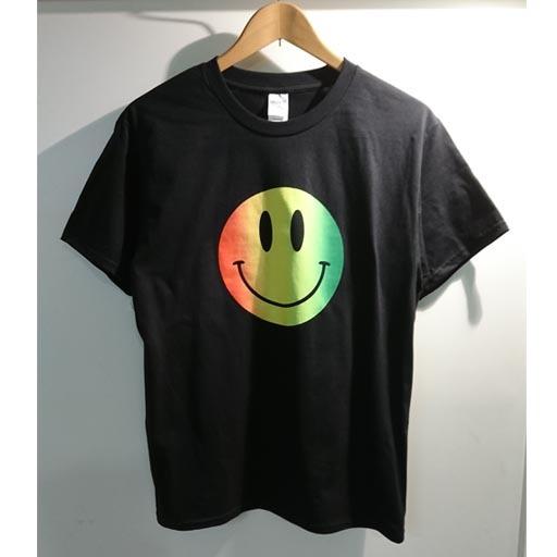 SMILE Tシャツ ブラック×ラスタ