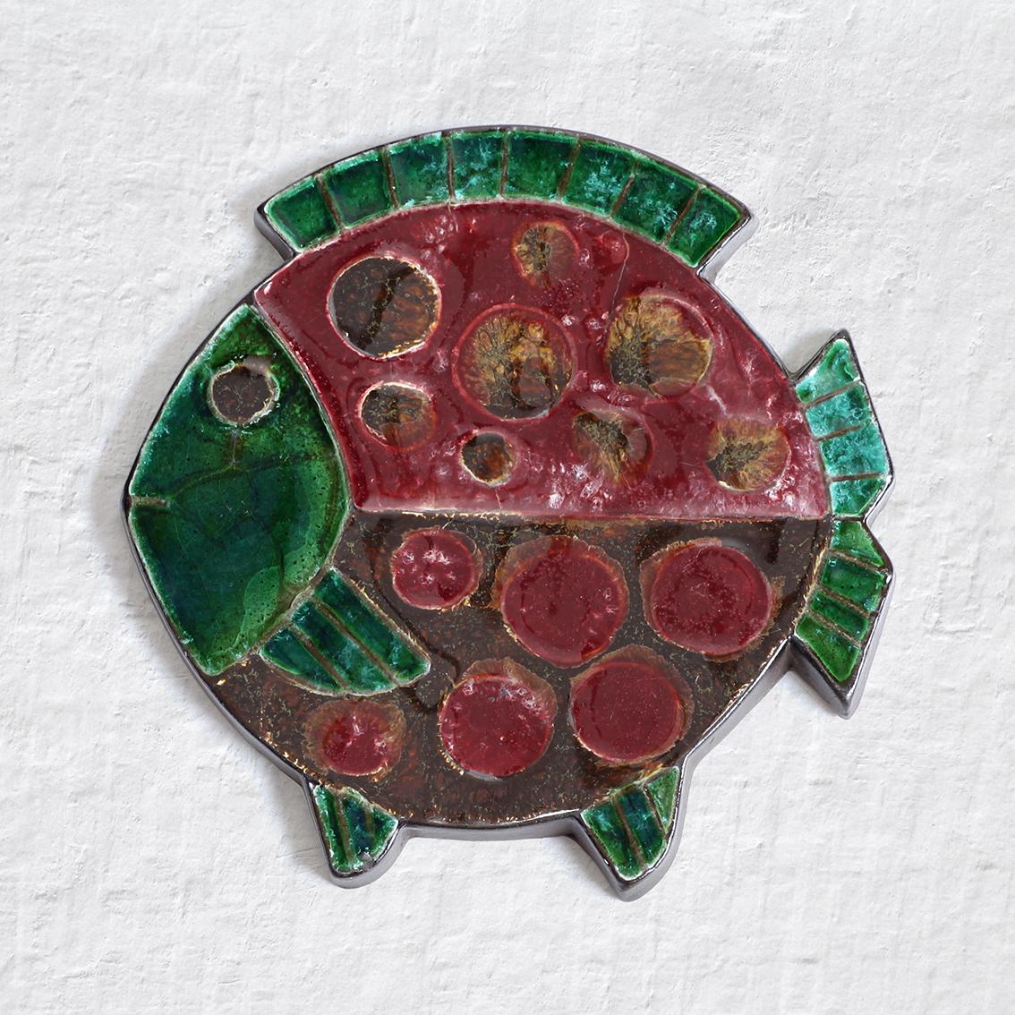 Kupittaan Savi クピッターン サヴィ 魚の形の陶板 北欧ヴィンテージ
