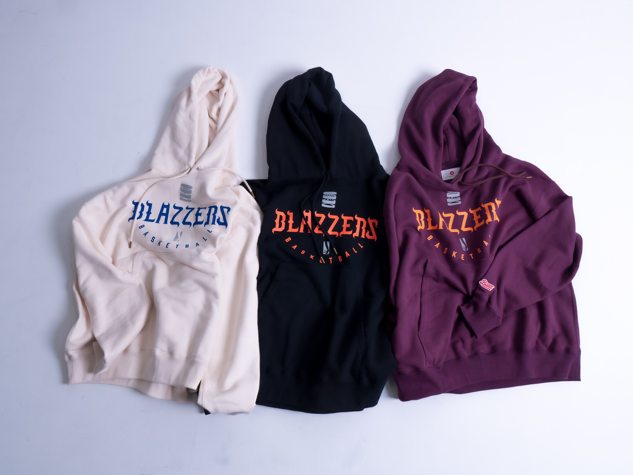 BLAZZERS CREW TEAM HOODIE -MADE IN JAPAN- [CREAM]