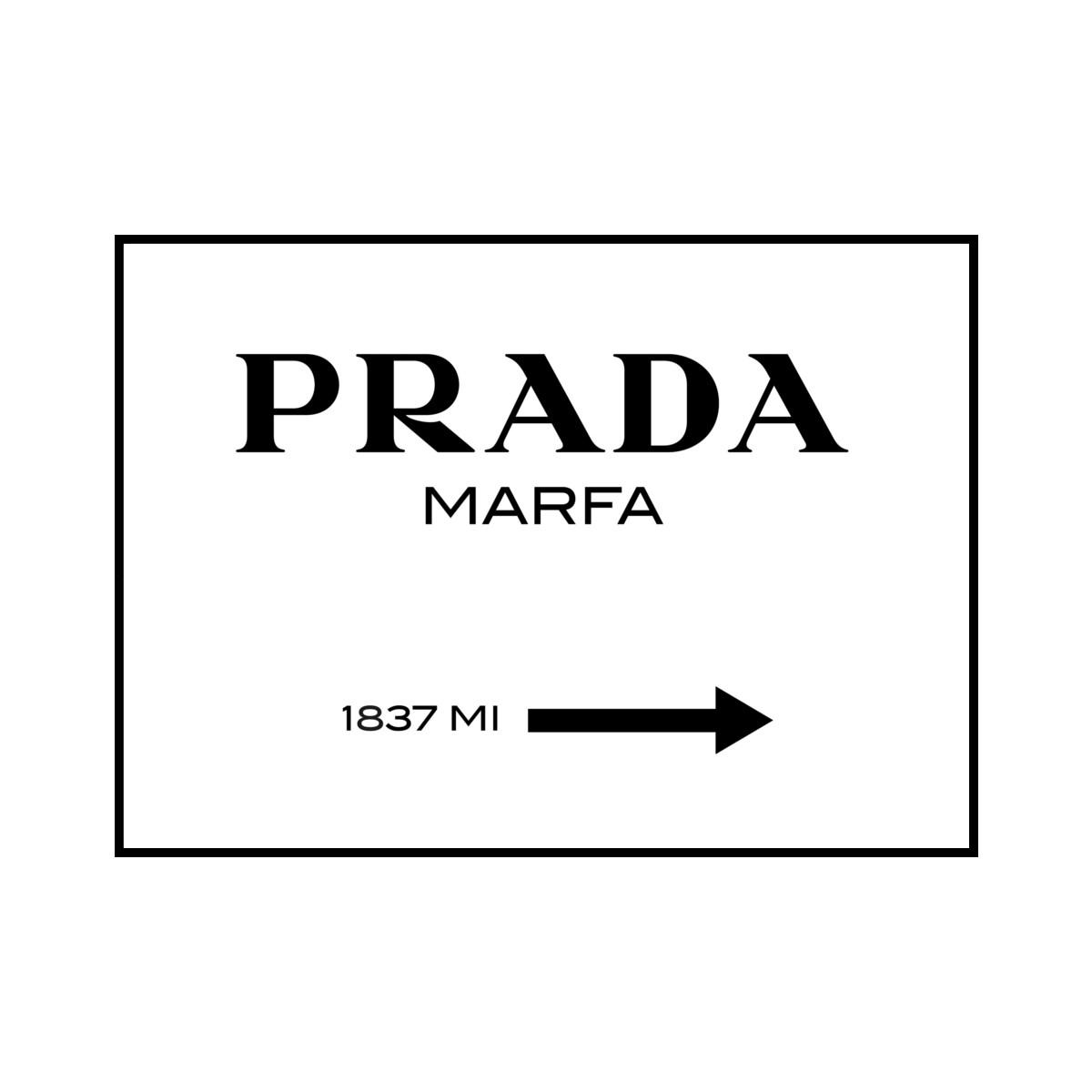 """""""PRADA MARFA 1837 MI"""" POSTER [SD-000561] A4サイズ ポスター単品"""