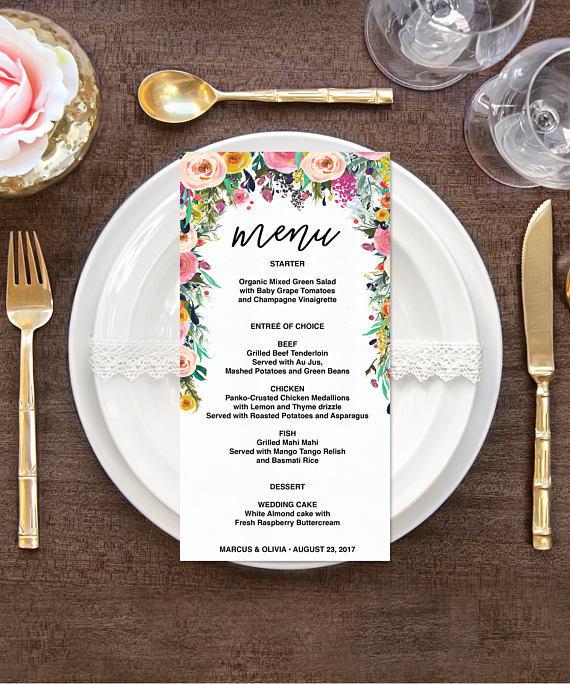 【Secret Garden】ゲストが何名でもこの値段♥︎自分で作る海外風ウェディングメニュー表キット│結婚式