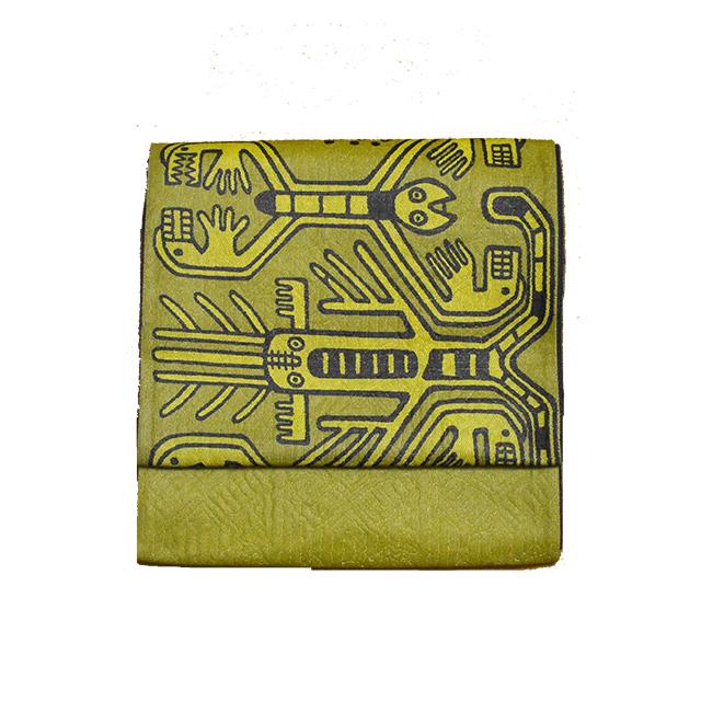 縮々織袋帯
