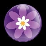 ゴーバッジ(ドーム)(CD0237 - FLOWER 02) - 画像1