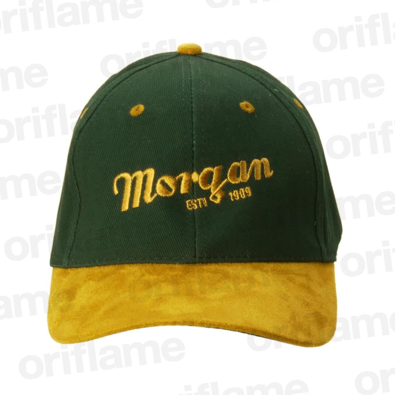 ベースボール キャップ・モーガンスクリプト・Est 1909・グリーン&ブラウン