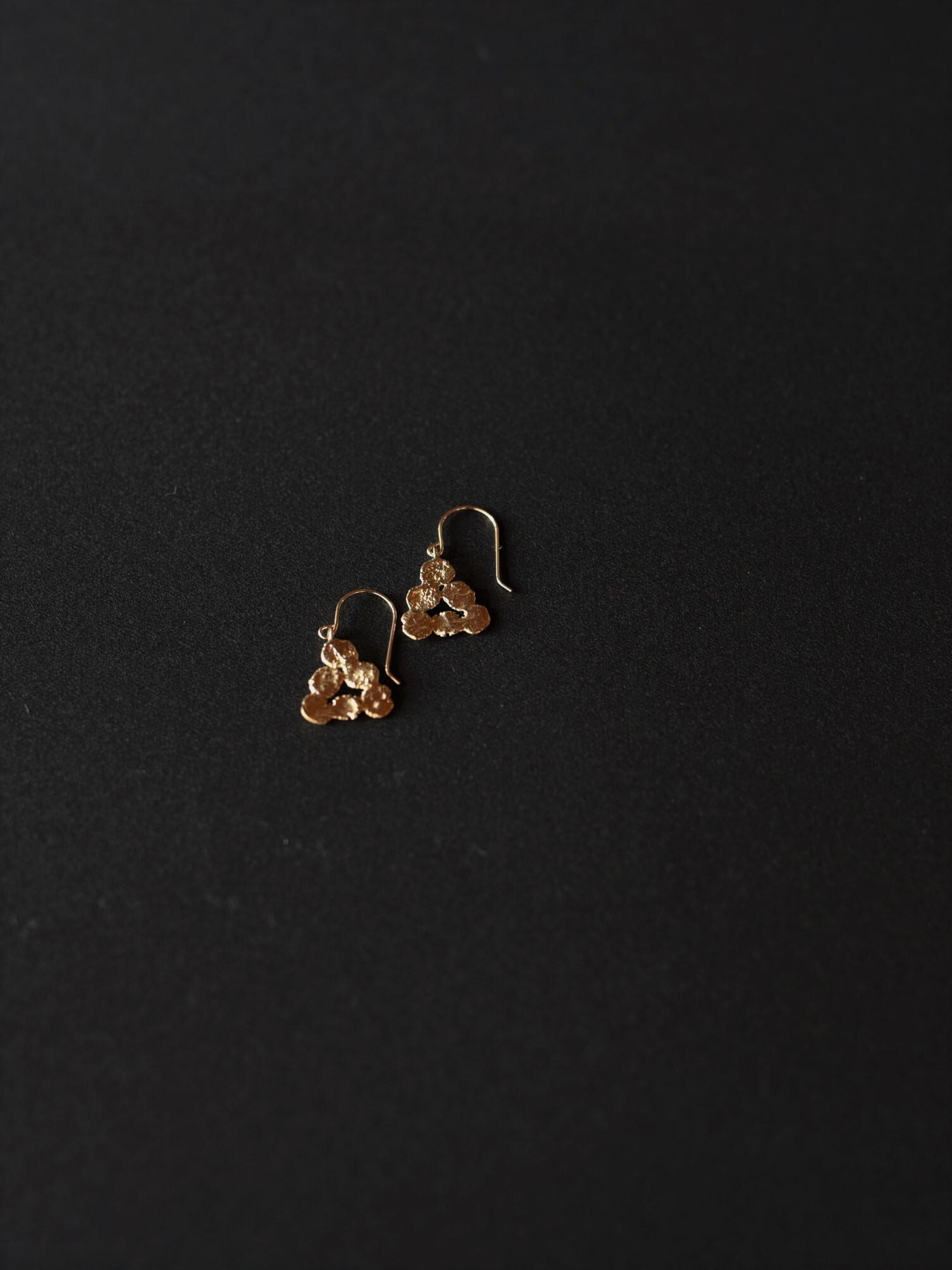 accessories mau|p17 まるまる三角ピアスフック / brass
