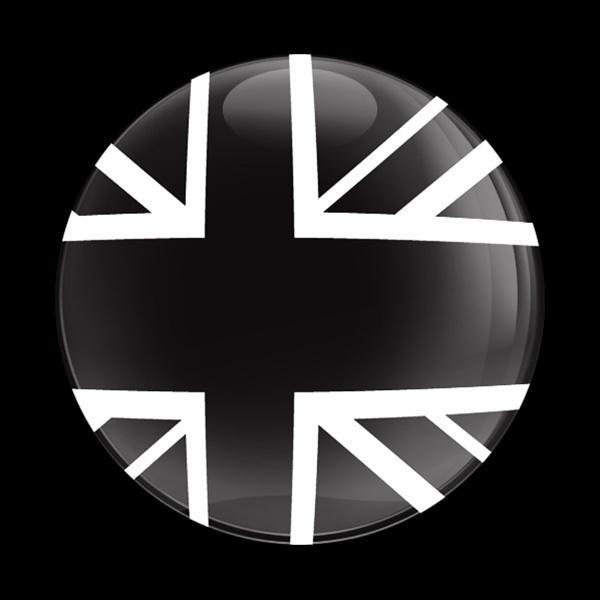 ゴーバッジ(ドーム)(CD0224 - FLAG UK BW BLACKJACK) - 画像1