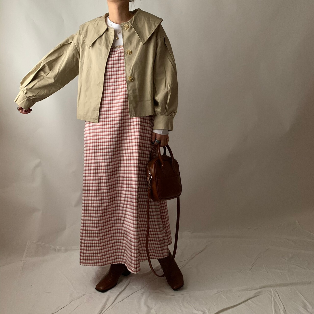 【asyu】short trench jacket