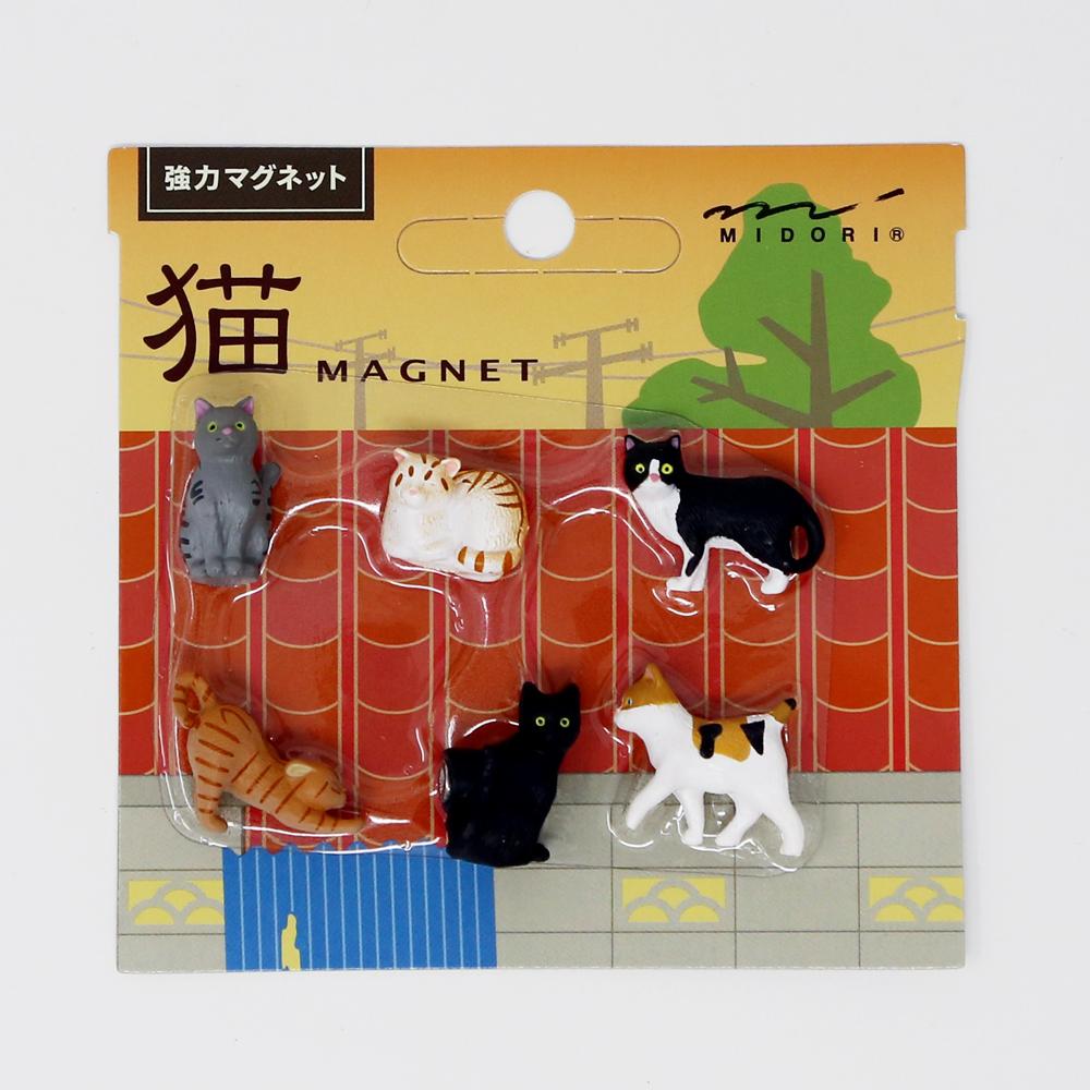 猫マグネット(猫立体強力マグネット)