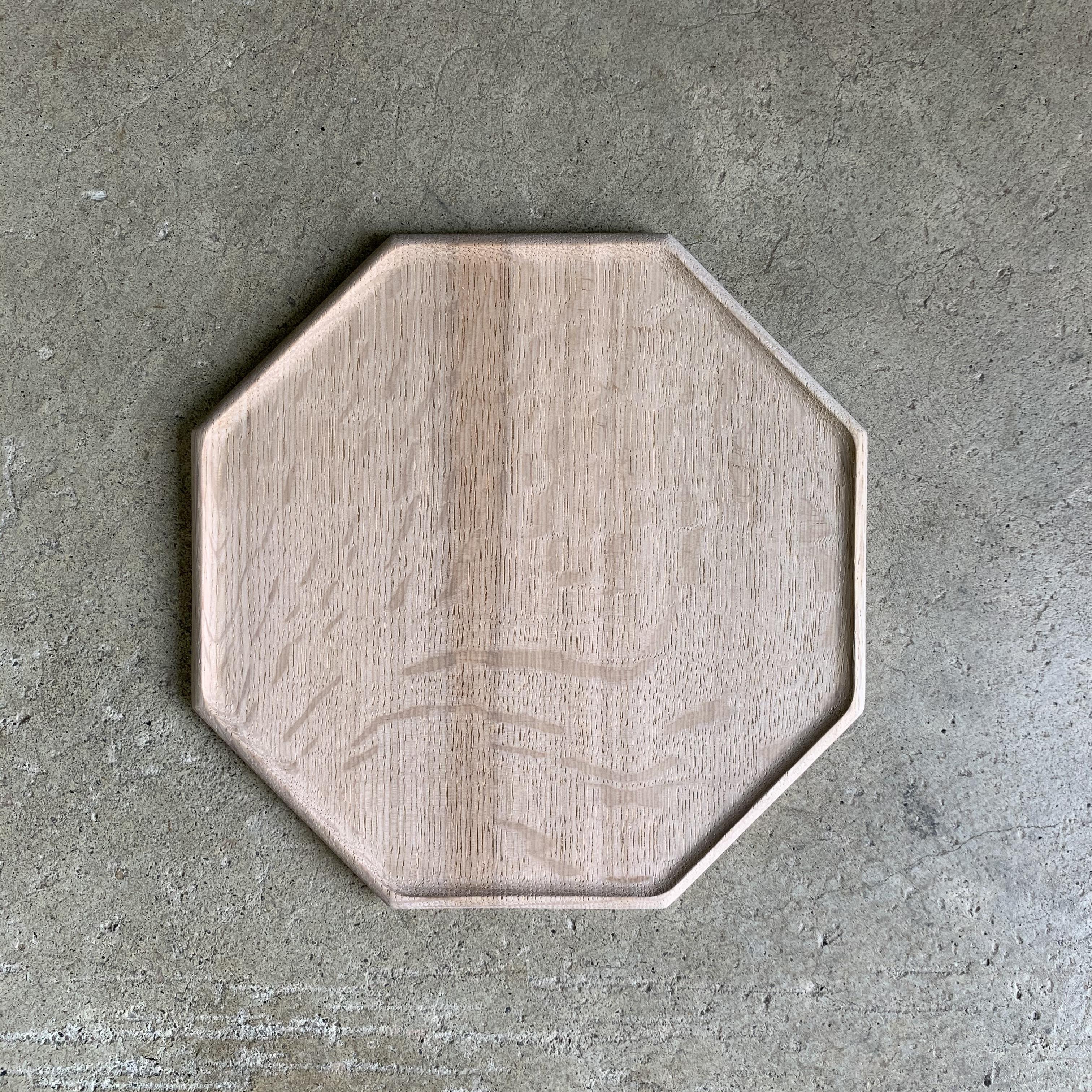 Octagonal plate M