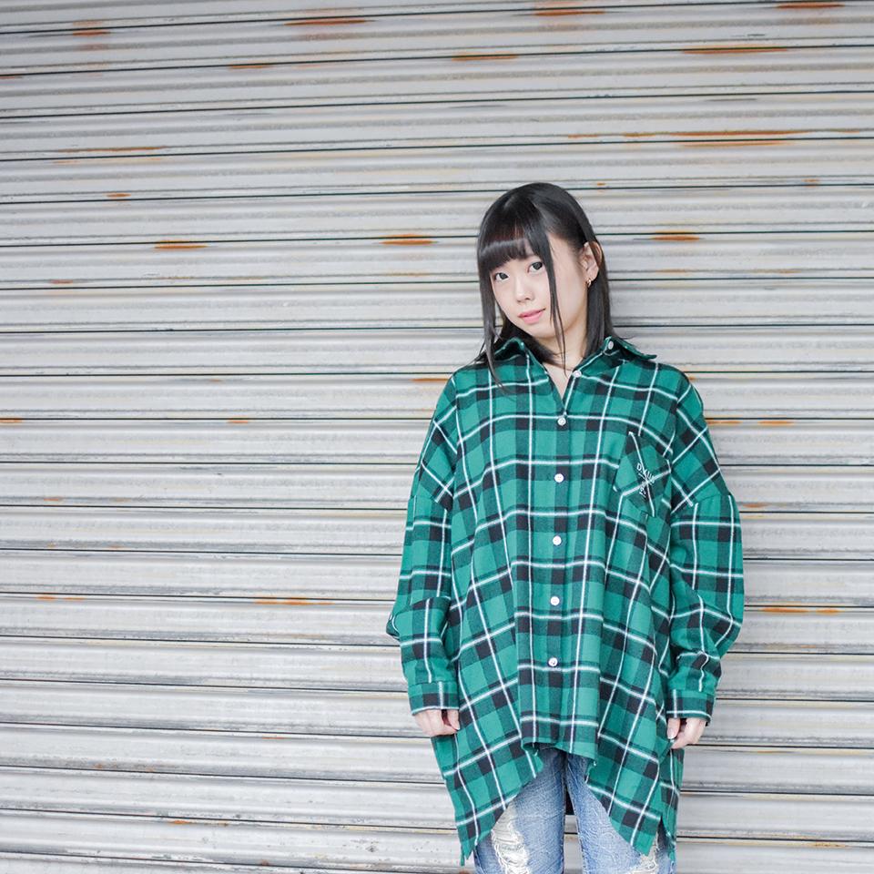 Deviluse(デビルユース) | Woman Check Shirts(Green)