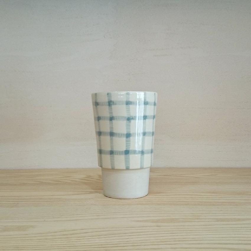 陶器 ギンガム スカイ