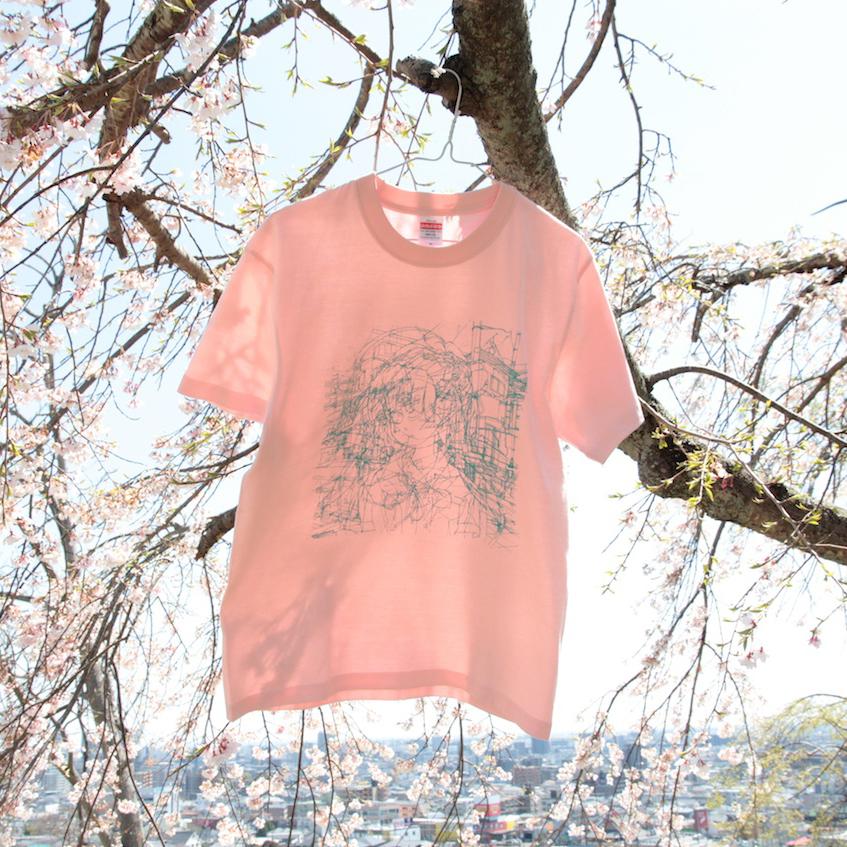 門眞妙 / 「レイヤーTシャツ(2)」(ピンク)