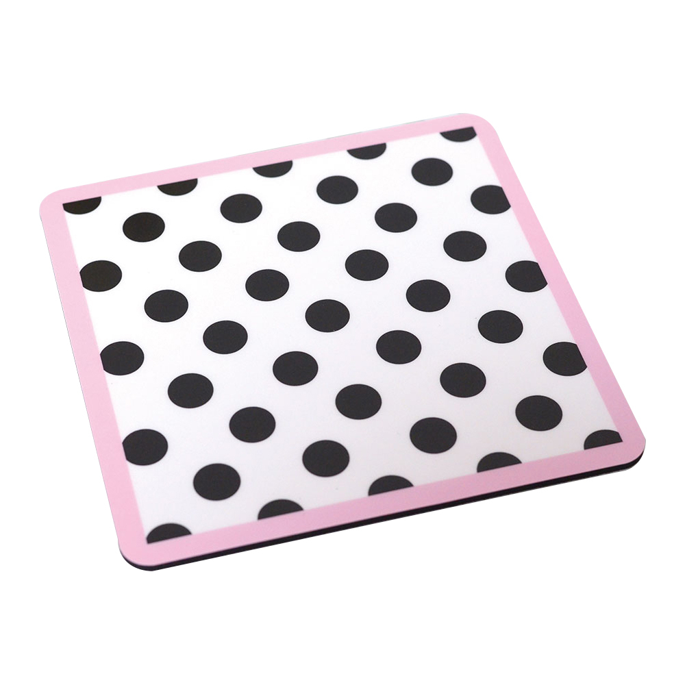 ドットのマウスパッド【ピンク・ブラック】MP001