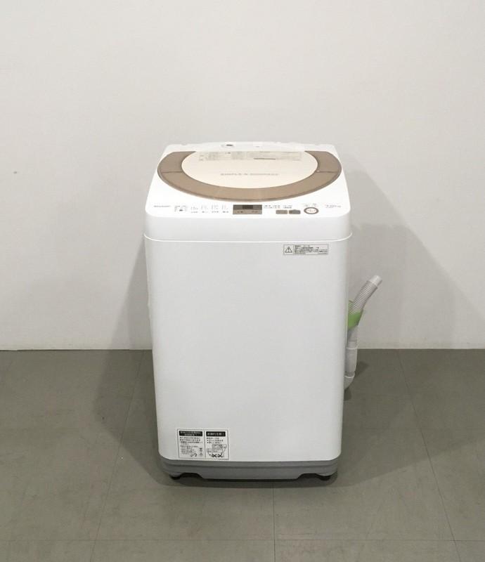 【極美品】SHARP  シャープ 全自動洗濯機 ES-GE7A 2017年製  簡易乾燥機能付 穴なし槽 槽クリーン