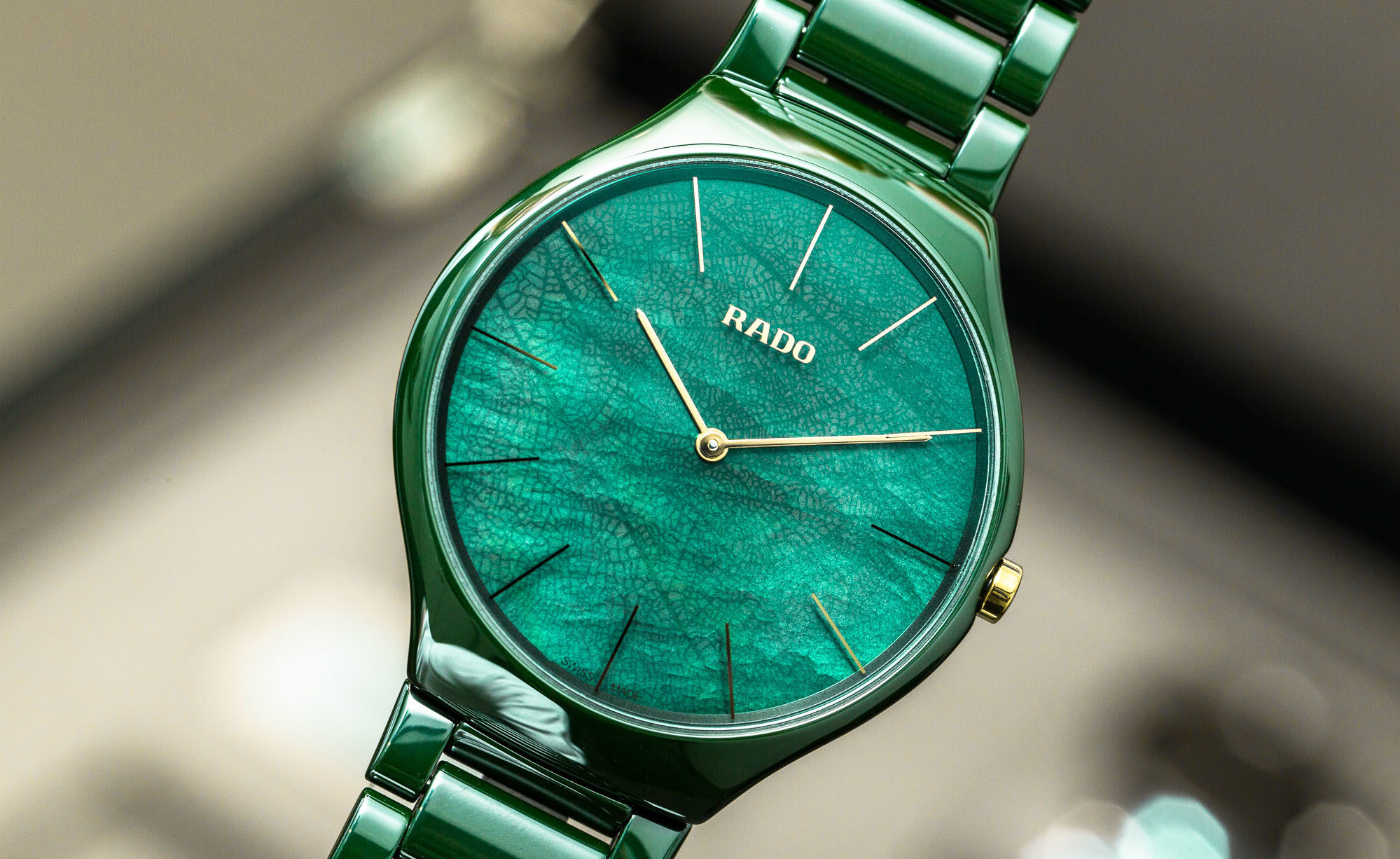 【RADO ラドー】True Thinline Leaf トゥルーシンライン(リーフグリーン)/正規輸入品