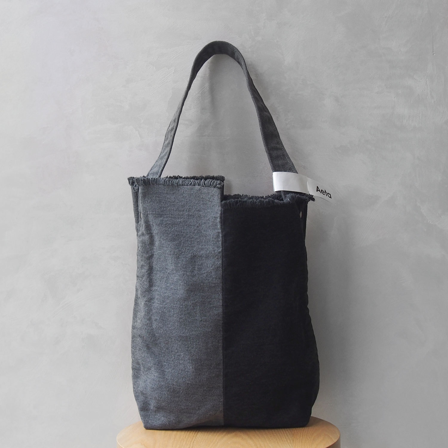 Aeta BD03 SHOULDER S BLACK DENIM