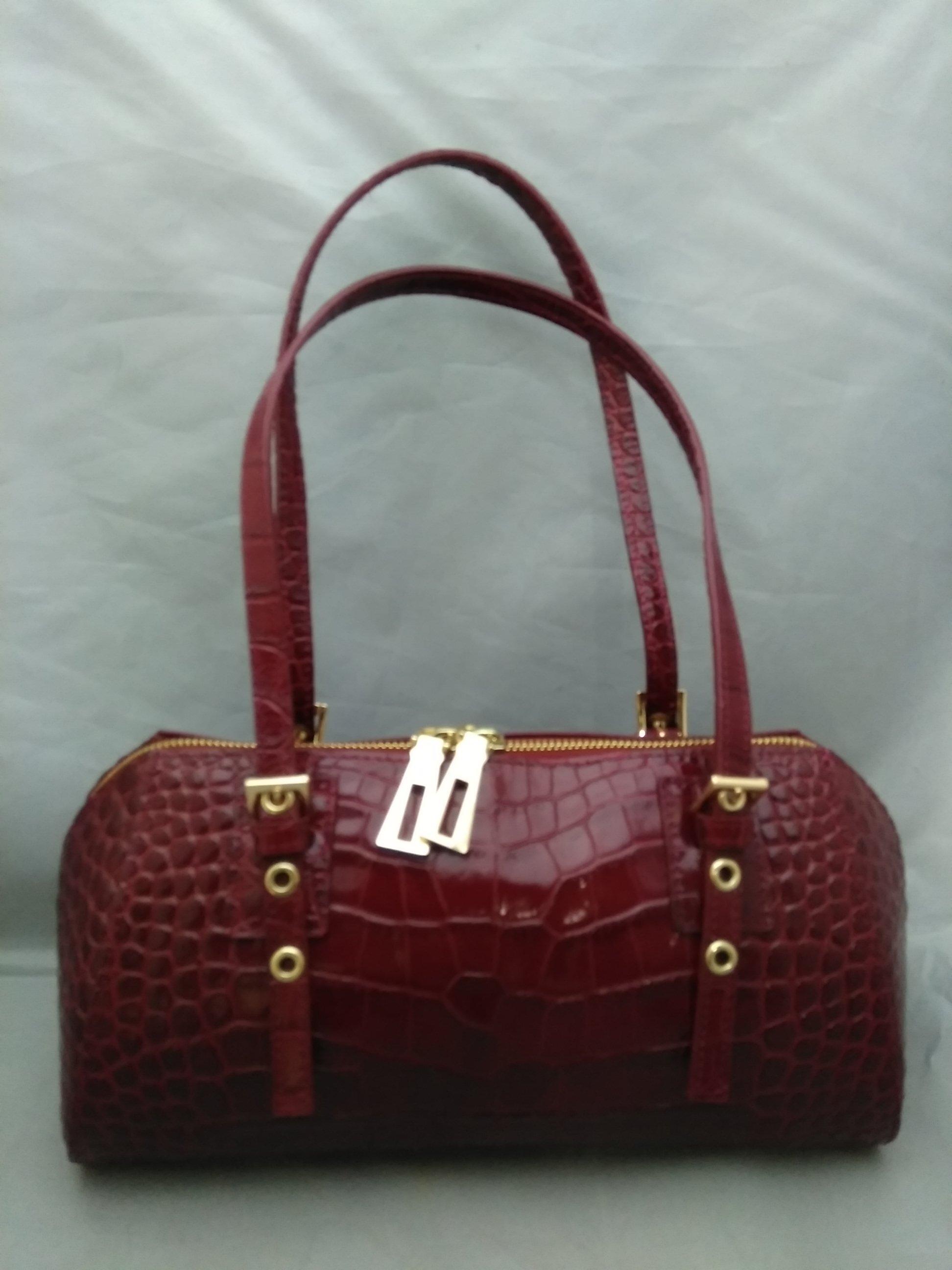 ファルチ ニューヨーク ハンドバッグ 革 ワインレッド mu974c