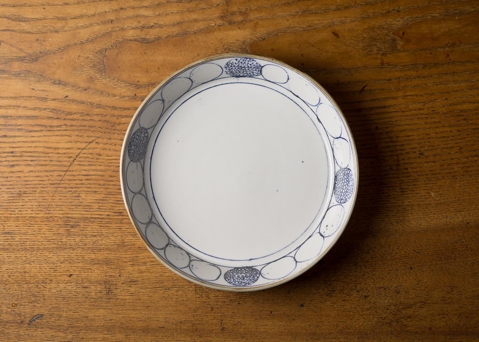丸々模様 半磁器 プレート(深皿・浅鉢・ボウル・切立鉢)/鈴木美佳子