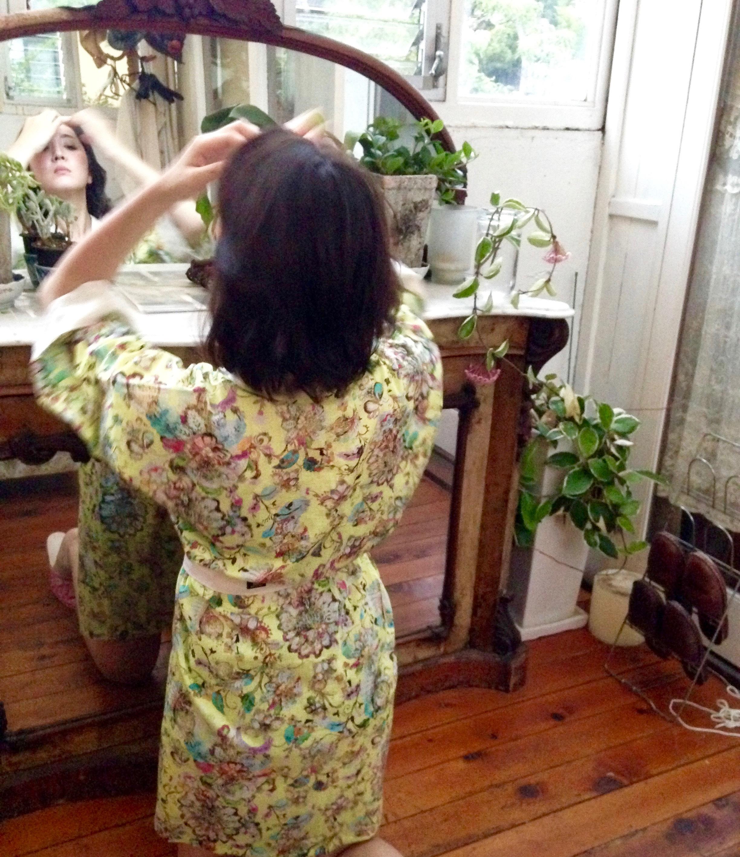 Midium Robe Botanical Yellow ミディアムローブボタニカルイエロー