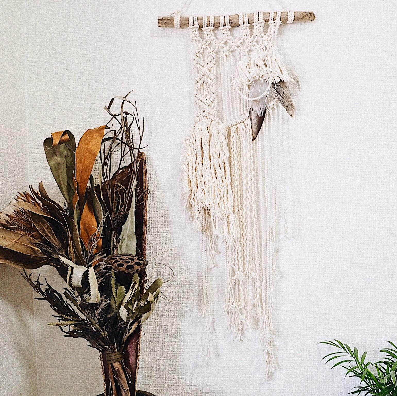 Macrame Wallhanging - boho × feather -