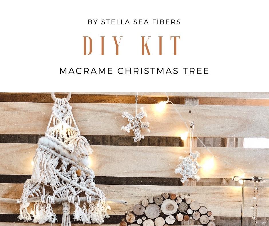 【DIY KIT】マクラメクリスマスツリー〈動画+PDF+材料〉