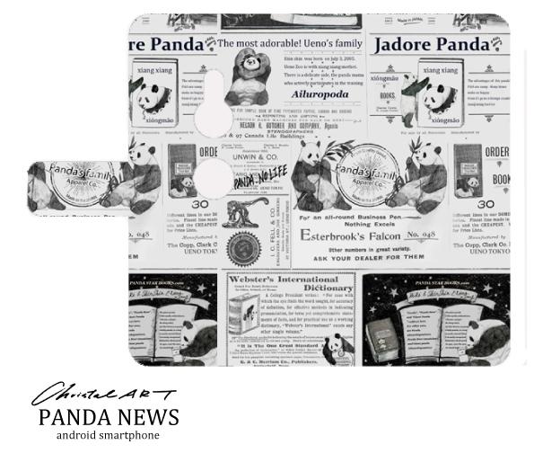 ◆受注生産◆アンドロイド対応スマホカバー 「パンダニュース」「レトロポスター」
