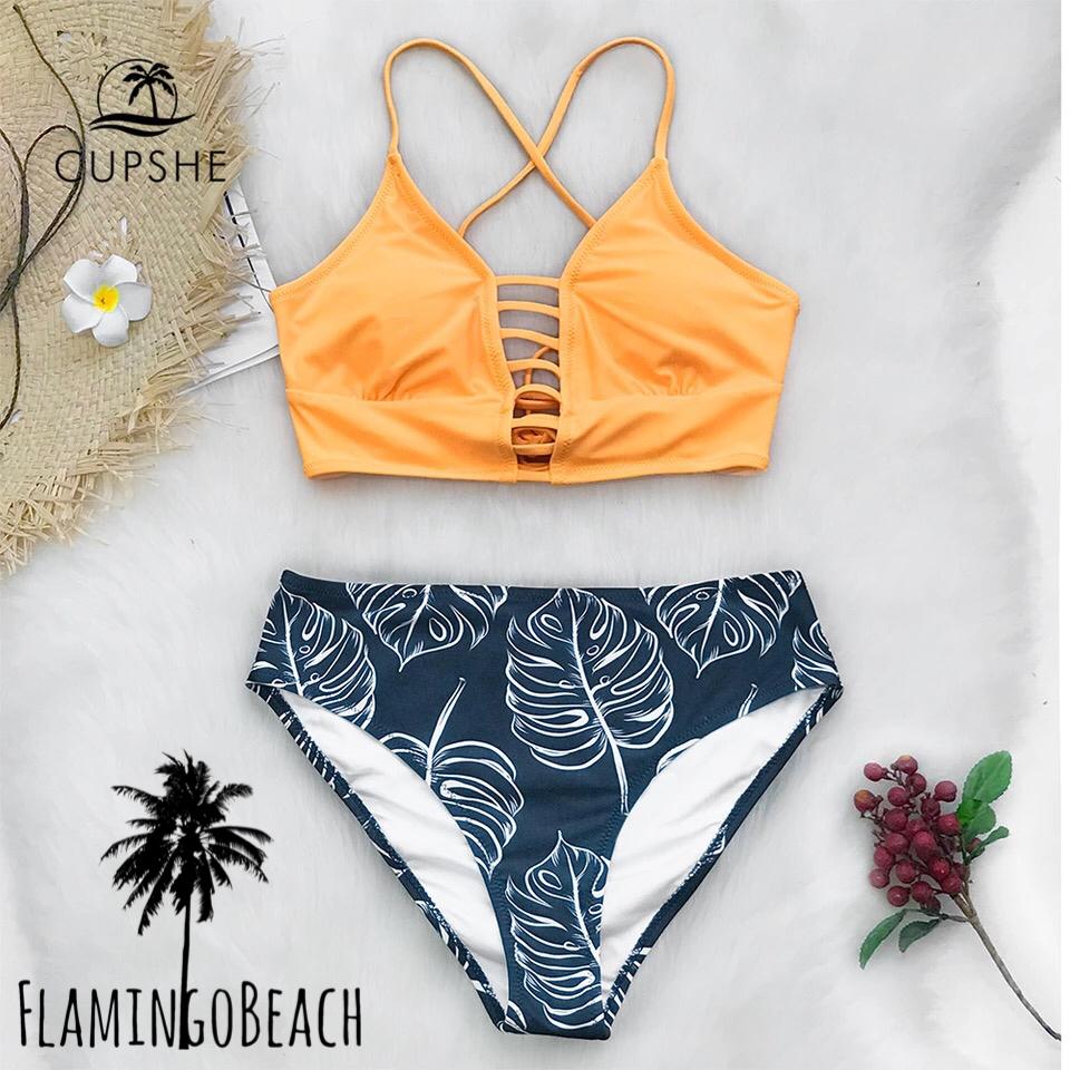 【FlamingoBeach】color leaf bikini ビキニ