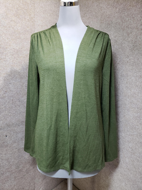 バナナリパブリック 羽織り カーディガン S グリーン系 mu392s