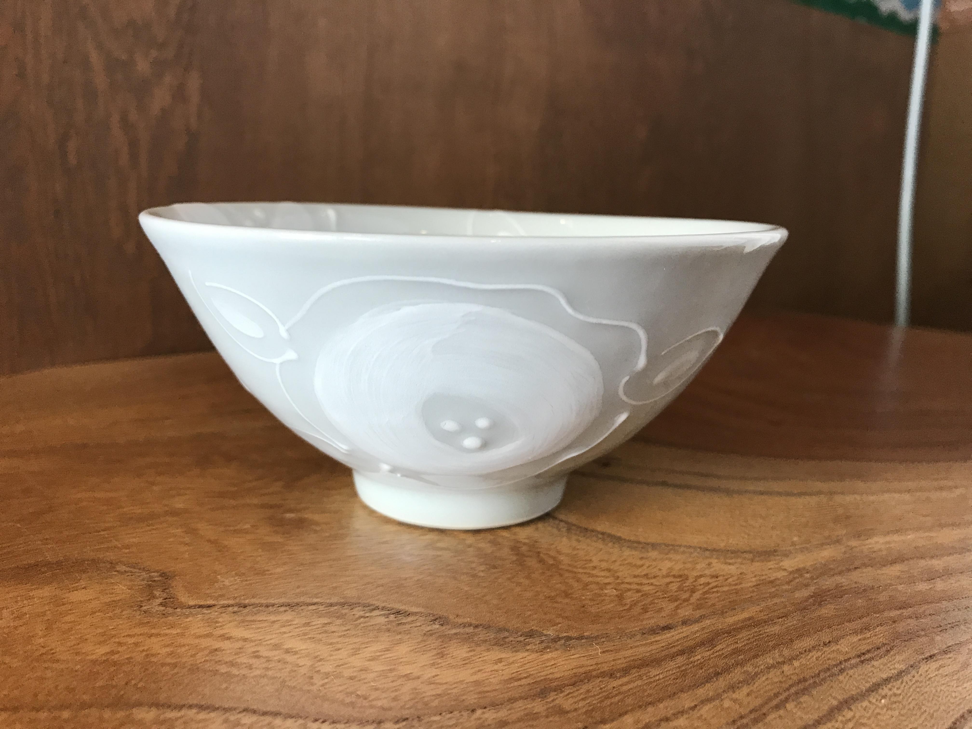 砥部焼  陶彩窯  いっちんの茶碗(大)