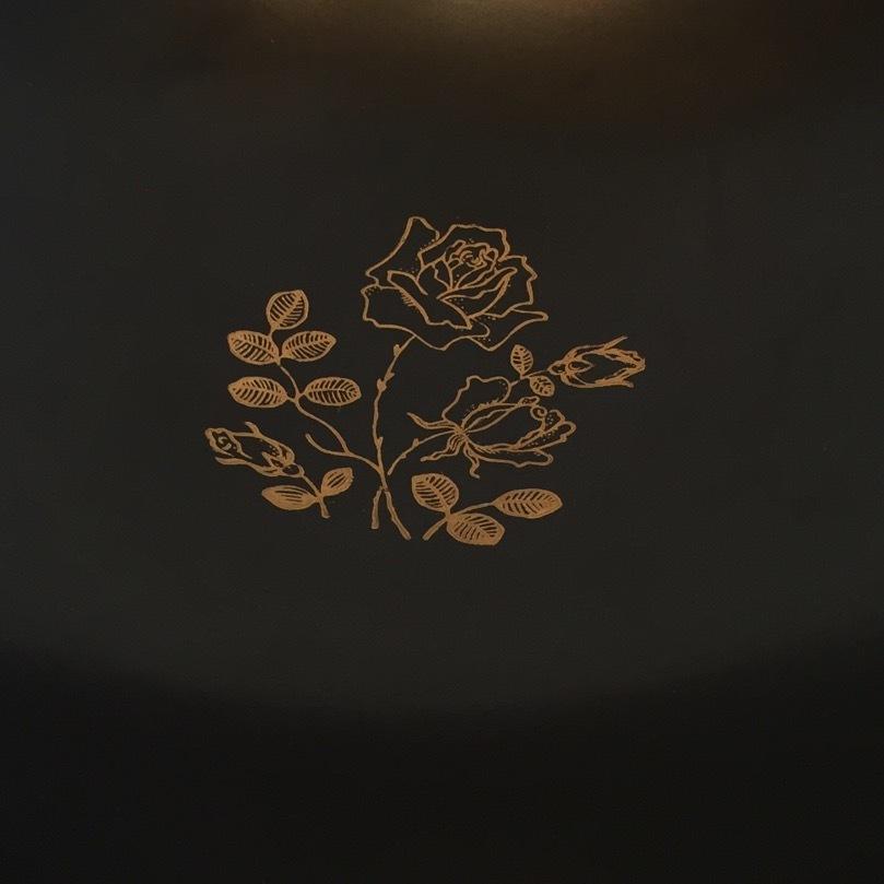 薔薇柄ボウル