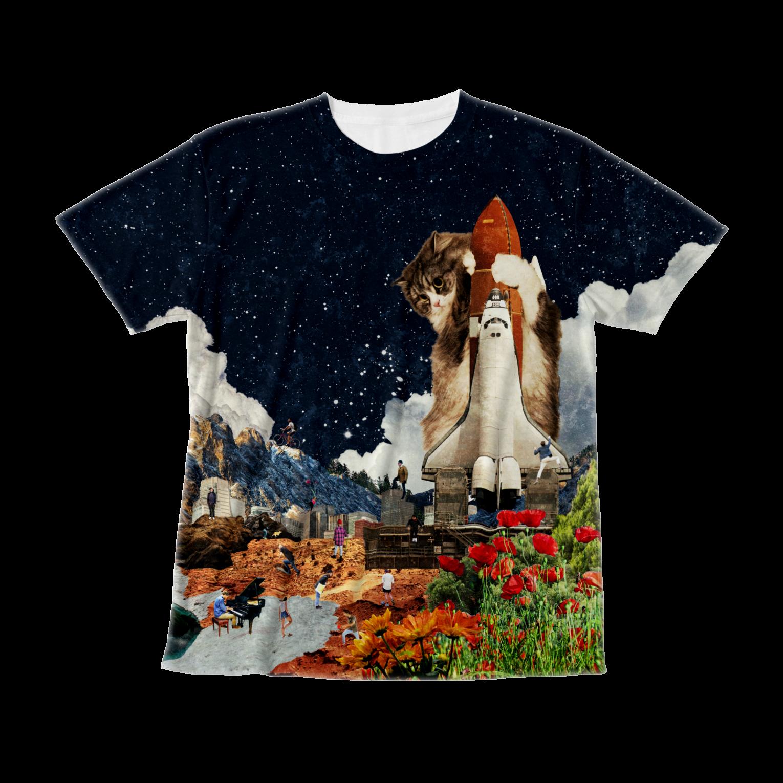 シャトル猫Tシャツ