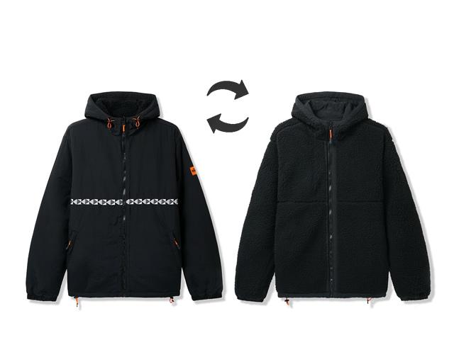 BUTTERGOODS|Base Camp Reversible Sherpa Jacket (Black)